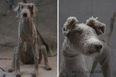 Holy smokes*, these dog sculptures are incredible! UK-based artist Helen Thompson aka Holy Smoke creates these expressive canines from wire, natural linen, and vintage textiles.