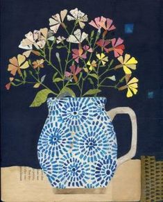 """""""Garden Gifts"""" Mixed media painting with collage on wood by Rachel Grant by aileen"""
