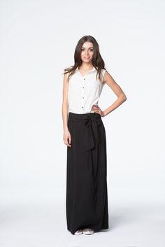 Elegancka czarna spódnica Waist Skirt, High Waisted Skirt, Etsy, Skirts, Fashion, Hobo Chic, Woman, Moda, Skirt