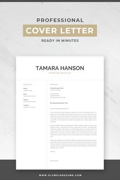 "Focus on your cover letter content instead of stressing about the letter's formatting. Use a professional resume template and make your cover letter look amazing. Professional resume template pack ""Tamara"" includes 1 and resume, cover letter and re Creative Cover Letter, Writing A Cover Letter, Cover Letter For Resume, Cover Letter Design, Resume Cover Letter Examples, Cover Letter Tips, Interior Design Cover Letter, Cover Letter Layout, Interior Design Resume"