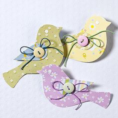 Paper Birds (could be cute for Mother's Day, etc) ... http://www.hobbycraft.co.uk/Pages/Ideas/Idea.aspx?id=1451