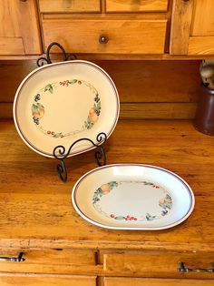 Your place to buy and sell all things handmade Holiday Dinnerware, Vintage Dinnerware, Corningware Vintage, Modern Platters, Corelle Patterns, Rustic Decor, Farmhouse Decor, Fruit Pattern, Porcelain Jewelry