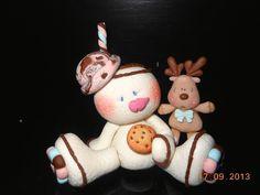 Muñeco de nieve y reno