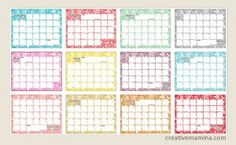 Grab your FREE 2014 Calendar Printable – Over 15 to Choose From!