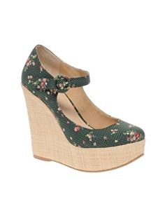 ASOS PANSY Mary Jane Platforms With Raffia Wedge Heel - StyleSays