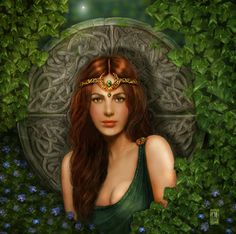 Portrait of a celtic maiden by *crayonmaniac on deviantART
