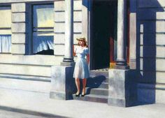 Oil painting reproductions of Edward Hopper, Summertime hand-made at our painting studio with hi-quality painting and canvas. Henri Matisse, Edward Hopper Paintings, Oil Painting Reproductions, Modern Artists, Oeuvre D'art, American Artists, American Realism, Art Pictures, Art Pics