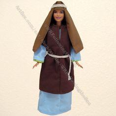 Biblical Rachel Brown Tunic Blue Dress Barbie Fashion Doll Outfit