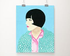 Anna Karina art print