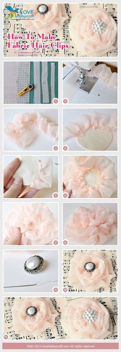 How to make hair clips for girls: