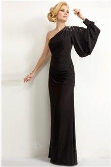 Sheath/Column One Shoulder Floor-length Spandex Mother Of The Bride Dress