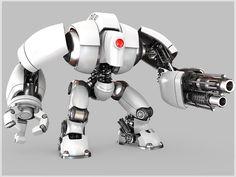robot by EgorKin on DeviantArt Robot Cute, Cool Robots, I Robot, Robot Design, Game Design, Cyberpunk, Pop Art Poster, Robot Hand, Robots Characters