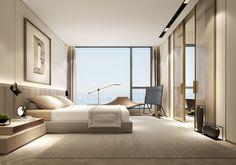 Master Bedroom Interior, Home Bedroom, Modern Bedroom, Bedroom Wall, Bedroom Decor, Hotel Room Design, Room Interior Design, Apartment Interior, Hotel Interiors