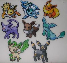 perler bead patterns pokemon eevee - Google Search