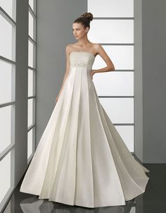 A-line satin sleeveless bridal gown  Read More:     http://pin.wholesale-lucky.com/index.php?r=a-line-satin-sleeveless-bridal-gown-1.html