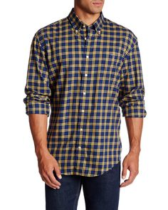 ed6892e3a16 Gant Rugger | Blue Wilmington Check Print Long Sleeve Regular Fit Shirt for  Men | Lyst