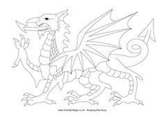 welsh flag coloring page - loch ness monster colouring page scotland england trip