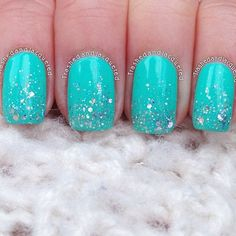 pretty nails / turquoise nails