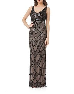 This would make a beautiful bridesmaid dress! Art Deco Beaded Gown $269.00 AT vintagedancer.com