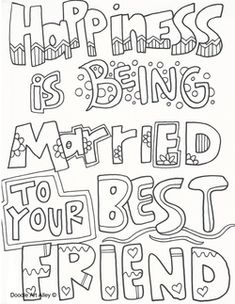 1000 images about coloring pages sayings on pinterest for Wedding anniversary coloring pages