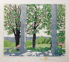 Summer Shadows, Multi Color Woodcut by Gustave Baumann