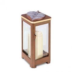 Hochwertige Bronze Grablampe »Storia« mit Blatt - Hochwertiger Bronzeguss & Handarbeit ✤ Jetzt versandkostenfrei kaufen bei ▷ Serafinum.de !