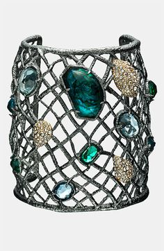 this makes me think of the sea and mermaids    Alexis Bittar 'Elements' Wide Multistone Cuff #nordstrom
