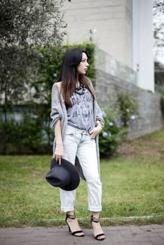Street style - boyfriend jeans - Fiorella Requejo para sklussiv