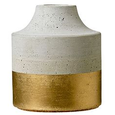 Love this concrete and gold painted piece from schoolhouseelectric.com (as well as the gift guide from #sunset)