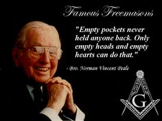 Fishermagical Thought: Famous Freemasons: Norman Vincent Peale