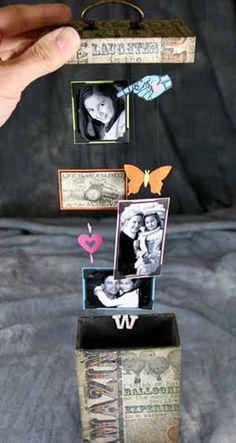 Me encanta esta idea para regalárselo a una sobrina adolescente que tengo a la que ya no sé qué zipotes regalarle! Scrapbooking.com -- Article - Art on A String Project
