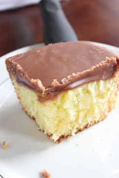 White Texas Sheet Cake with Chocolate Fudge Frosting. This is a moist sour cream cake with a cooked fudgy icing