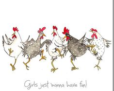 Dare To Be Different Greeting Card - Funny Chicken Card, Friendship, Hens - Wagen Sie zu verschiedenen Grußkarte lustiges Huhn Karte Birthday Cards For Her, Birthday Greeting Cards, Diy Birthday, Birthday Greetings, Card Birthday, Funny Birthday, Animal Birthday, Birthday Images, Chicken Humor