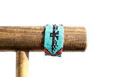 Eagle Motif Seed Bead Bracelet on Etsy, $14.95