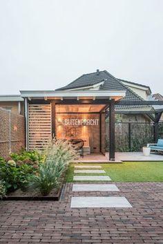 ideas for outdoor patio gazebo landscapes Concrete Patios, Flagstone, Modern Garden Design, Patio Design, Exterior Design, Patio Gazebo, Backyard Patio, Modern Pergola, Interior Garden