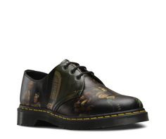 HOGARTH 1461 Dr Martens  collaborated with Sir John Soane's Museum on Hogarth's most famous series 'A Rakes Progress' to create a unique collection. Made with Softy T Leather, the 1461 depicts scenes across the quarter panels and toe areas. Over time, the hand-painted finishes wear thin, revealing, layer by layer, the history of a well-worn shoe. View All Hogarth Collection