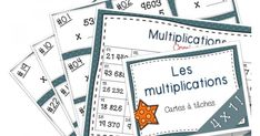 Voici un document contenant 27 cartes à tâches sur les multiplications 4 chiffres par 1 chiffre. Vous pouvez les plastifier et les découper.  Il y a plein de façons d'utiliser les cartes à tâches! Vous pouvez utiliser les cartes à tâches dans votre enseignement quotidien, en jogging mathématique,