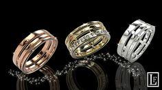 alliance nombre d' or  or jaune et diamants or rose or blanc