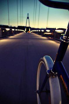 On the bike.