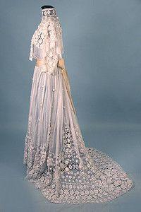 Irish Crochet and Net Dress, circa1905