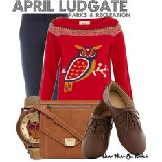 Inspired by Aubrey Plaza as April Ludgate on Parks & Recreation.