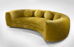 Get Inspired By The Best Interior Design Projects by India Mahdavi - Covet Edition Gebogenes Sofa, Sofas, Couches, Armchairs, Funky Furniture, Sofa Furniture, Furniture Design, Sofa Design, Design Art