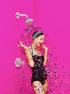 Shower glitter