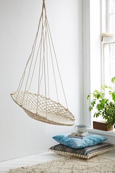 Cuzco Hanging Chair by Urban Outfitters - Found on HeartThis.com @HeartThis | See item http://www.heartthis.com/product/474721611732123727?cid=pinterest