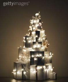 Fairy lights and presents