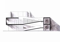 Plans for Le Corbusier's Villa Savoye, one of Lucien's favorite buildings in THE PARIS ARCHITECT