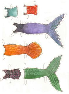 Mermaid Paper Doll by BrianaCorrScott on Etsy
