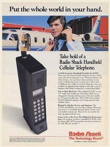 1989 Radio Shack Handheld Cellular Telephone Ct 301 Print Ad | eBay