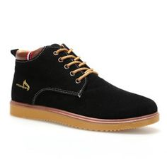 Preppy Letter Print and Stitching Design Men's Casual Shoes