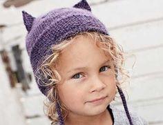 Описание вязания на спицах шапочки с ушками из журнала Burda. Creazion №2/2013
